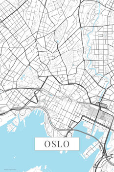 Map Oslo white