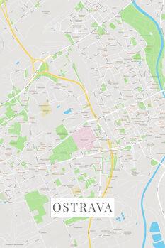 Map Ostrava color