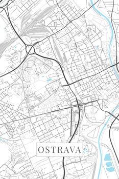 Map Ostrava white