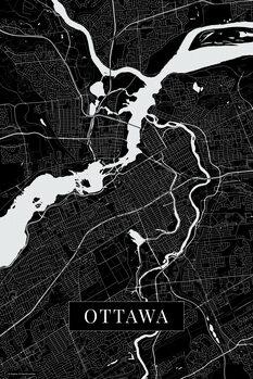 Map Ottawa black