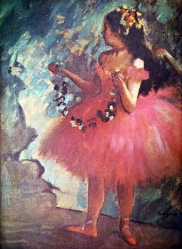 Fine Art Print Painting titled 'Dancer in a Rose Dress'