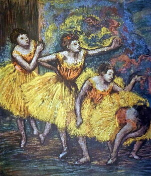 Fine Art Print Painting titled 'Four Dancers' by Edgar Degas
