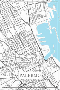 Map Palermo white