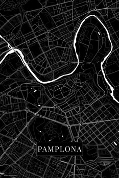 Map Pamplona black