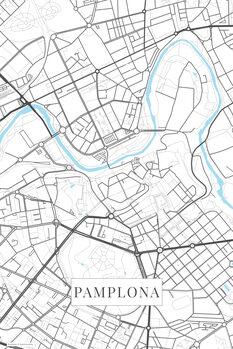 Map Pamplona white