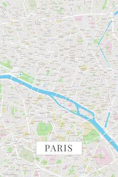 Map Paris color