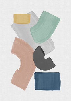 Illustration Pastel Paint Blocks