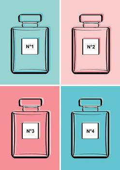 Ilustração Pastel perfumes
