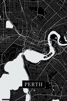 Map Perth black