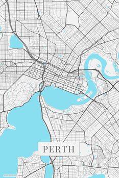Map Perth white