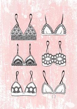 Illustration Pink Lingerie