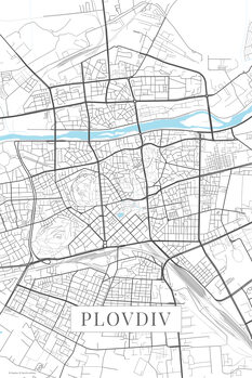 Map Plovdiv white