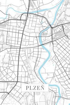 Map Plzen white