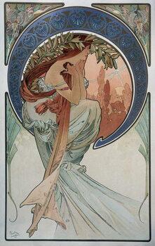 Fine Art Print Poetry - by Mucha, 1898.