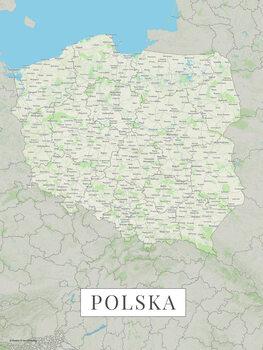 Map Poland color