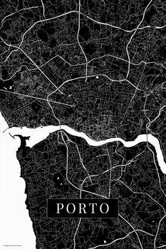 Map Porto black