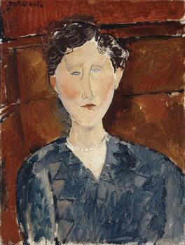 Fine Art Print Portrait of a Woman in a Blue Blouse