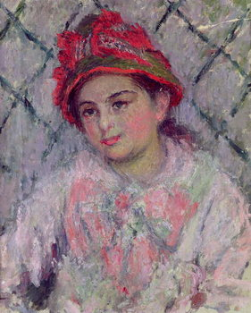 Fine Art Print Portrait of Blanche Hoschede  as a Young Girl