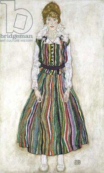 Fine Art Print Portrait of Edith Schiele, the artist's wife, 1915