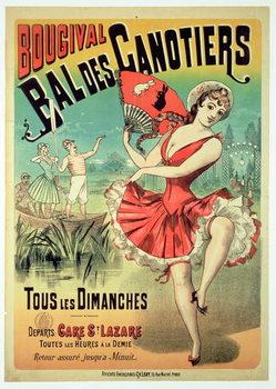 Reprodução do quadro Poster for the 'Bal des Canotiers, Bougival'