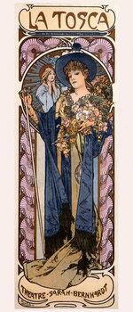 Fine Art Print Poster for 'Tosca' with Sarah Bernhardt