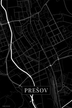 Map Presov black