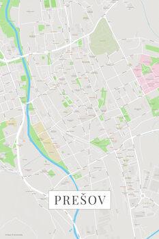 Map Presov color