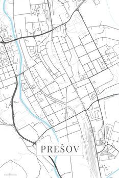 Map Presov white