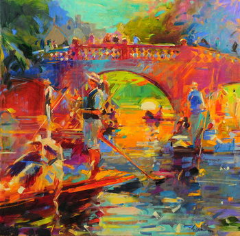 Fine Art Print Punts, Clare Bridge