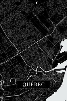 Map Quebec black