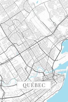 Map Quebec white