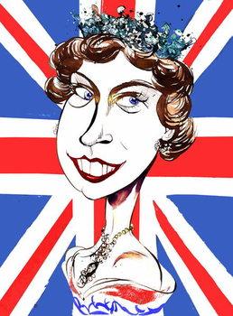 Fine Art Print Queen Elizabeth II   , young  by Neale Osborne