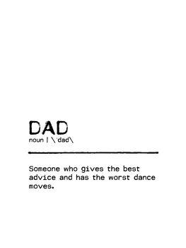 Illustration Quote Dad Worst Dance