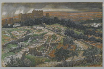 Fine Art Print Reconstruction of Golgotha and the Holy Sepulchre, seen