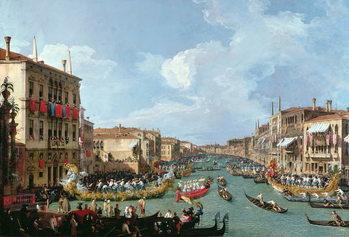 Reprodução do quadro Regatta on the Grand Canal