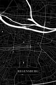 Map Regensburg black