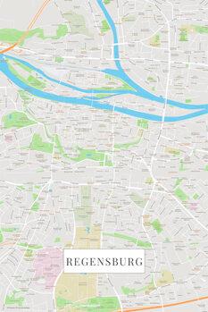 Map Regensburg color