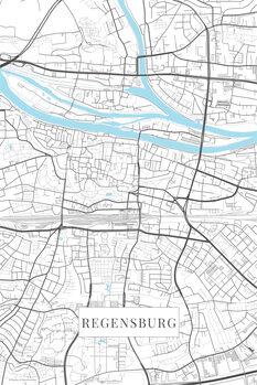 Map Regensburg white