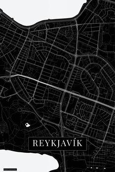 Map Reykjavik black