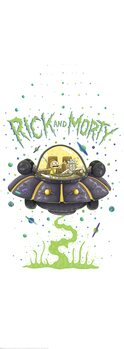 Art Poster Rick and Morty - Spaceship