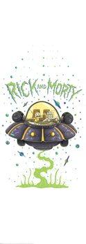 Poster Rick & Morty - Nave espacial