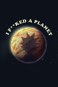 Impressão de arte Rick & Morty - Planet