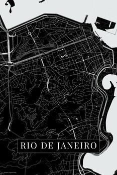Map Rio de Janeiro black