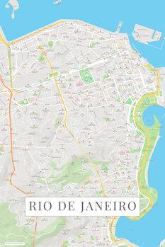Map Rio de Janeiro color