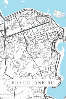 Map Rio de Janeiro white