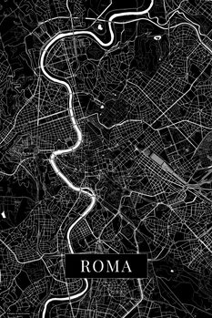 Map Roma black
