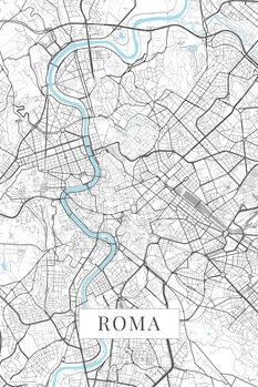 Map Roma white