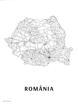Map România black & white