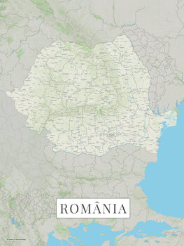 Map Romania color