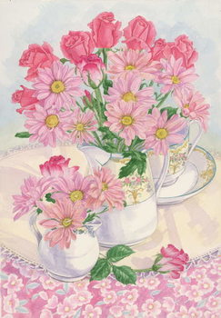 Fine Art Print Roses and Chrysanthemums, 1996